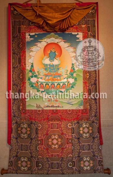 Pathibhara Art Gallery: Thangka. Boudhanath Stupa Round Kathmandu, NEPAL