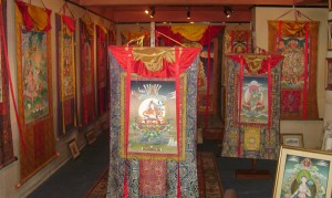 Pathibhara Art Gallery in Boudhanath Stupa Round in Kathmandu, Nepal / Tibetan Authentic Traditional Thangkas
